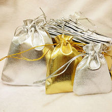 10PCS Organza Bag Favor Jewelry Packaging Goodie Gifts Pouch Drawing For Party Candy Bag Display Wedding Decoration
