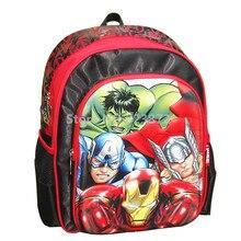 82ee8d7f9b5 3D Avengers Backpack School Bags for Boys Grade 1-3 Primary School  Backpacks Children Schoolbag