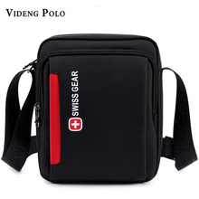 Swiss Men Messenger Shoulder Bag crossbody Waterproof bag Oxford Zipper Bag Men's Brand Travel Bags