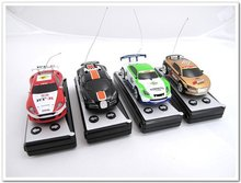 fast shipping rc mirco mini radio control car Coke Can Racing New 4-direction Remote Controller Car 1:63(China)