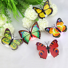 Hot! Color Changing Cute Butterfly LED Night Light Home Room Desk Wall Decor(China)
