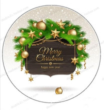 "Edible Paper For Cake Topper,8"" Merry Christmas Wafer Edible Transfer Paper,Christmas Edible Cake Sugar Decorating Suppliers(China)"