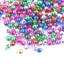 Colorful Iron Loose Beads Small Jingle Bells Christmas Decoration Pendants DIY Crafts Handmade Accessories 6mm 100Pcs CP0359