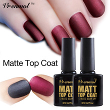 Vrenmol 1pcs Matt Matte Top Coat UV LED Matt Top Gel Black Pink and Dark Red  UV Gel Polish Soak Off Gel Lacquer nail gel