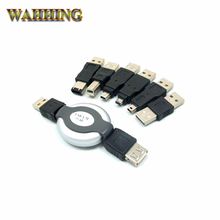 New 6 in 1 USB to Firewire IEEE 1394 Connector Kit 1394 4Pin 5Pin 6Pin Cable Adapter HY1572(Hong Kong)