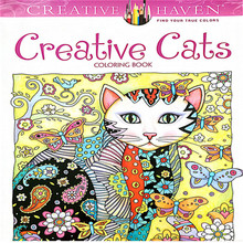 24 Pages Creative Cats Coloring Book For Kids Antistress Secret Garden Series Relieve Stress Kill Time Painting Drawing Book