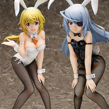22cm Japanese sexy anime figure Infinite Stratos Charlotte Dunois/Laura Bodewig action figure collectible model toys for boys(China)