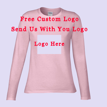 2016 Autumn Winter Fashion Blank Long Sleeves T Shirts Women Cotton Custom Logo Shirt Sweatshirt Free Shipping