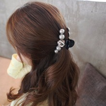 Camellia Flower Hair Clips Artificial Pearls Hair Accessories Elegant Barrettes Quality Ponytail Clamp Headwear for Women HC544(China)