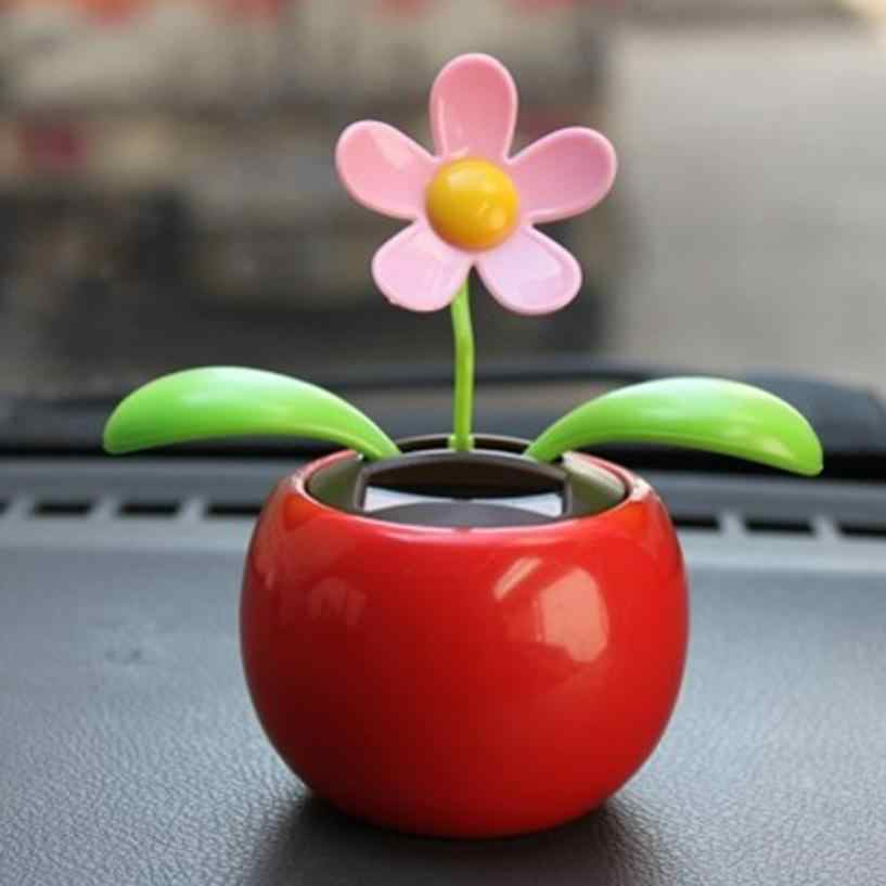 cf44a4753 Detail Feedback Questions about Plastic Crafts Home Car Flowerpot Solar  Power Flip Flap Flower Plant Swing Auto Dance Toy Car Styling Decoration  Ornaments ...