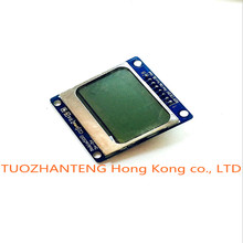 1pcs blue 84X48 Nokia 5110 LCD Module with blue backlight with adapter PCB  LCD5110 for Arduino ,freeshipping