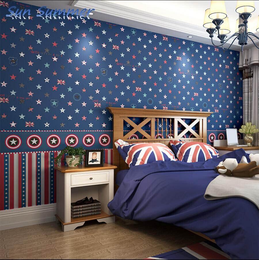 British style child wallpaper abc wallpaper eco-friendly boy non-woven wallpaper <br>