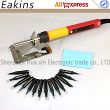 Buy CXG E60W E90W E110W Digital LCD Adjustable NC thermostat Electric soldering iron handle Welding repair +14pcs JY soldering tip for $26.32 in AliExpress store