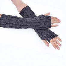Fashion Arm Warmers Women Long Gloves Knitted Mittens Fingerless Glove For Women