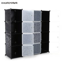 iKayaa FR Stock Clothes Wardrobe Multi-use Closet Wardrobe Living Room Cabinet DIY Cloth Shoes Storage Organizer Furniture