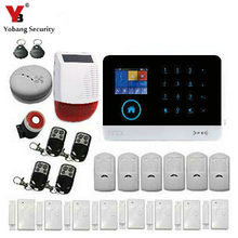 YobangSecurity Intruder Alarm System Wifi GSM GPRS Home Security System Burglar Alarm Kit With Solar Power Siren Smoke Detector(China)