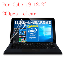"Transparent Lcd Screen Protector Film for Cube i9 12.2"" explosion-proof membrane without retail packing 200pcs/lot"