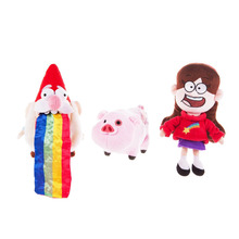 "Gravity Falls Waddles Pig Mabel Barfing Gnome Plush Doll Kids Toy 8"" with Tag 3pcs"