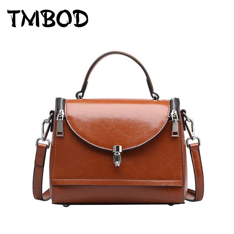 Hot 2017 Small Classical Vintage Retro Cowhide Boston Women Elegant Designer Split Leather Handbags Messenger Bag Tote an293<br>