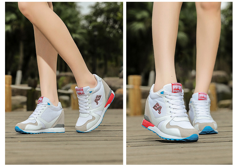 WOLF WHO  Ladies White High Heel Wedge Sneakers Women Platform Shoes Female Gumshoe Basket Femme 2017 Tenis Feminino x366