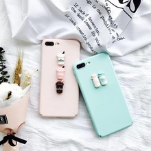 4.7inch Phone Cases For iphone 7 3D Milk Bottle Coffee Cup Soft TPU Mobile Phone Cover Coque Fundas Housing Bag For Apple iPhone