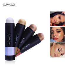 O.TWO.O Shimmer Highlighter Pen Face Makeup Concealer Long Lasting Brighten Bronzer High Lighter Stick Pigment Cosmetics Base(China)