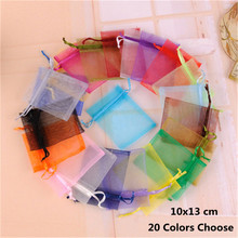 10pcs 9x12 10x15 13x18cm Organza Gift Bags Jewelry Packaging Bags Wedding Party Decoration Favors Drawable Gift Bags & Pouches