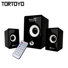 10W Stereo Bass Subwoofer 3D Surround PC USB Speaker for Smart Phone Computer PC with FM Radio Remotor TF Card Slot AUX USB Port