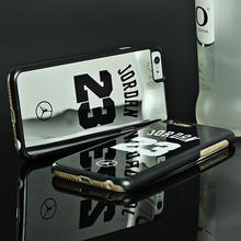 Luxury Electroplate Mirror Case for iPhone 7 5 5s SE 6 6S Plus Cover Michael Jordan PC Hard Phone Cases Cover for iPhone 7 6 6s