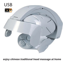 electronic head massager vibrating automatic scalp relax brain relieve headache acupuncture points stress release machine