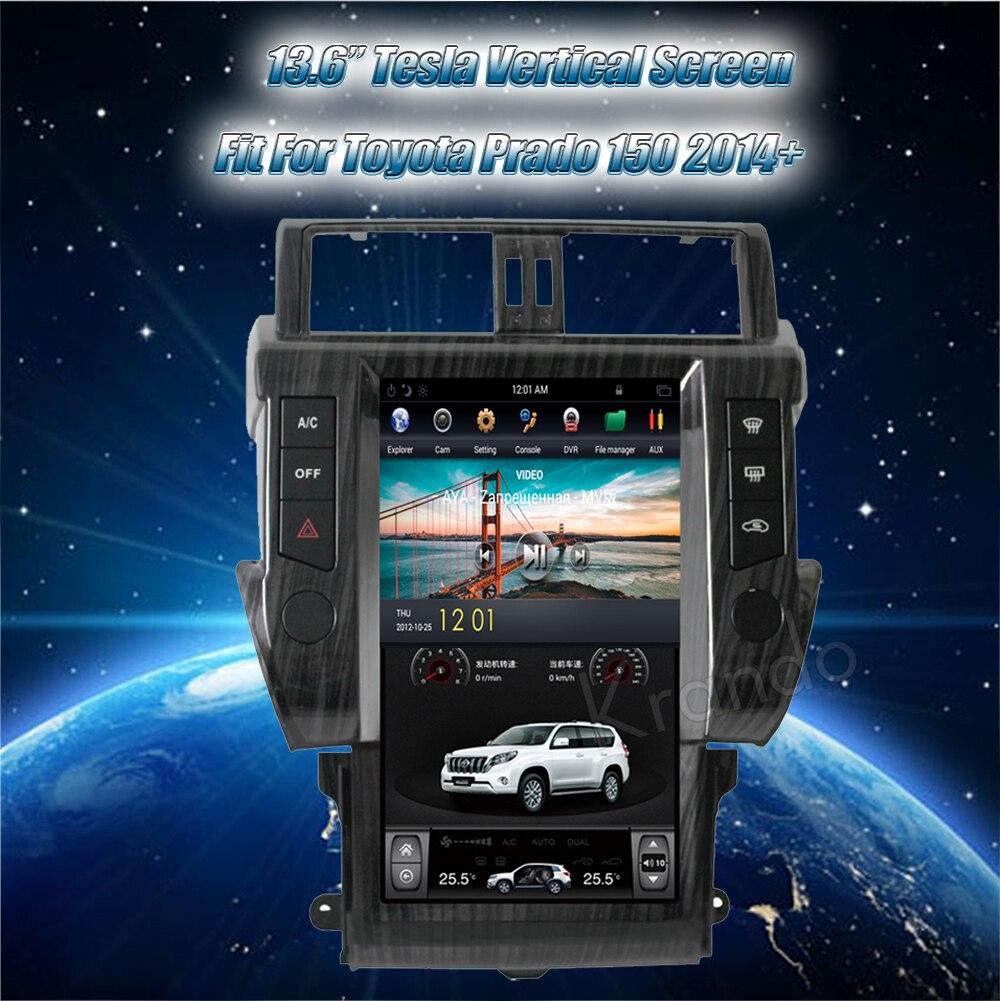 Krando toyota prado android car radio multimedia navigation with GPS system (2)
