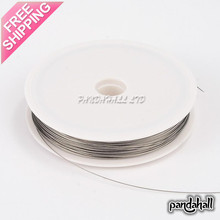 Tiger Tail Wire Spool, Stainless Wire, LightGrey, 0.45mm; about 50m/roll