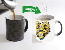 Happy Minions mug Color Changing Magic Heat sensitive cup despicable me mugs magical mugs heat reveal ceramic tea coffee cups