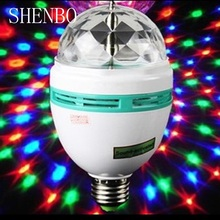 2pcs/lot led stage light disco ball Full Color 3W Crystal Stage Light Magic Ball DJ disco effect Bulb LampCrystal Magic Ball