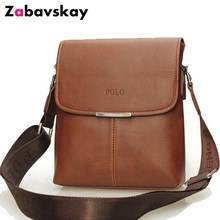 2018 Fashion Brands Leather Men Messenger Bags classic Casual Shoulder Crossbody Bags Business Laptop Briefcase Handbags DJZ216(China)