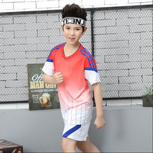 Kids Sport Running Suits soccer jersey kid tennis sets child Basketball Soccer Training Tracksuits Men Gym Clothing Sets(China)