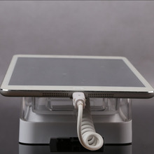 Tablet Personal Computer Display Acrylic Rack with Alarm and Charging for Ipad Huawei Samsung Tablet PC Security Free DHL(China)