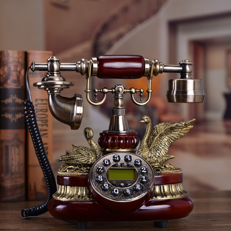 European style telephone Chinese antique telephone set rural telephone call display telephone(China (Mainland))