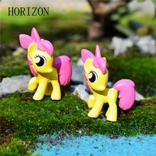 2pc Horse Animal Miniature Fairy Garden Home Houses Decoration Mini Craft Micro Landscaping Decor DIY Accessories(China)