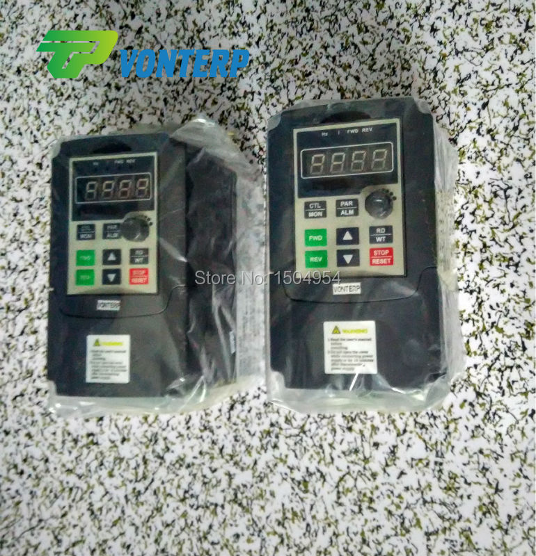 1 Phase 220v 0.75kw simple use mini VFD series ac drive variable speed controller/VSD<br><br>Aliexpress