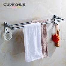Cavoli Stainless Steel Chrome Double Towel Bars Brand Bathroom Accessories #61006