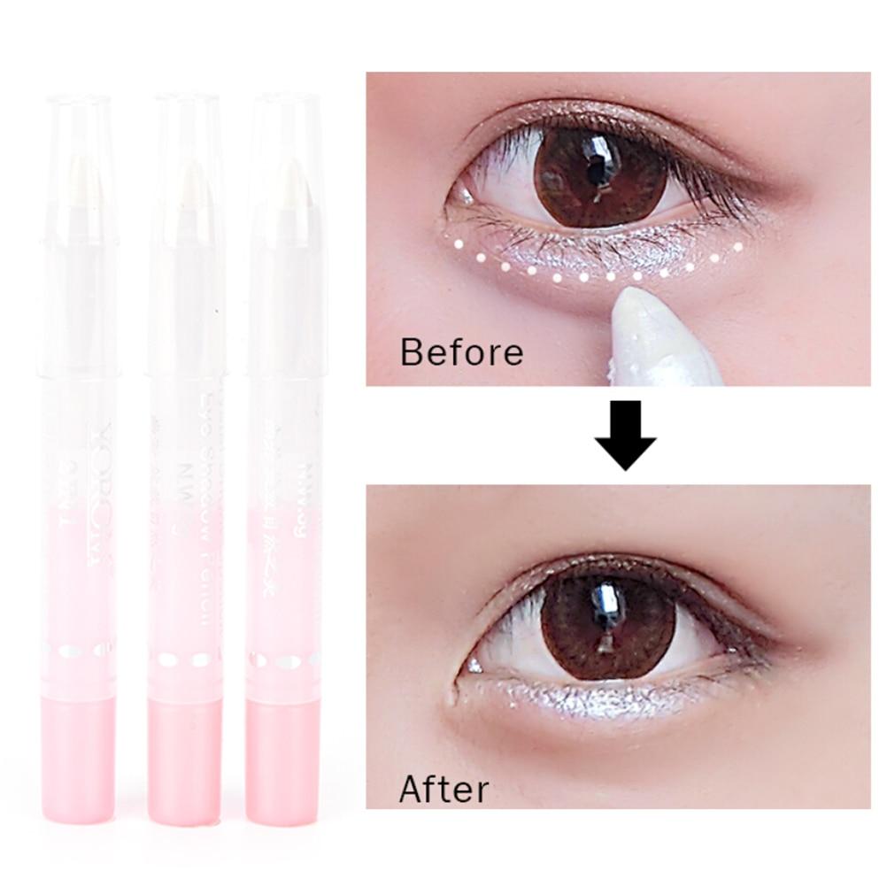 1pc Luminous Pearl White EyeShadow Pencil Eyeliner Cosmetic Pen Make Up Glitter Eye Liner Beauty For Women Girls Beauty