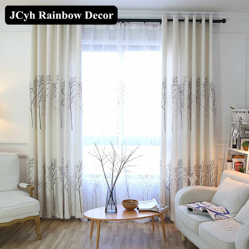 Tree Pattern Window Blackout Curtain For Living Room Decorative Modern Fabric Curtain For Bedroom Kitchen Outdoor Cortina Drapes