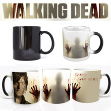 The Walking Dead Series Coffee Mug Cup A Dead-Alive Person Mark Color Changing Cup Sensitive Ceramic Tea La Copa Friends Gift