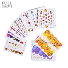 Full Beauty 42pcs New Year Christmas Mixed Decals Sticker for Nails Art Water Transfer Manicure Tips Snowman Santa Claus CH137