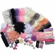 kid Shower Games - DIY Headband Kit - Make 32 Headbands and 5 Clips and 2 Sequin Bows (with instructions) A076-11(China)
