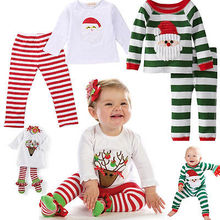 Fashion Cute Stylish Kids Baby Girls Boys Clothes Tops T-shirt Pant Leggings Christmas Outfits Set 2-7Y