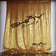 ShinyBeauty 2PCS Gold and 2PCS Silver 3x8FT Sequin Curtain, 5PCS Gold 30x275cm Sequin Table Runner On Sale  &a
