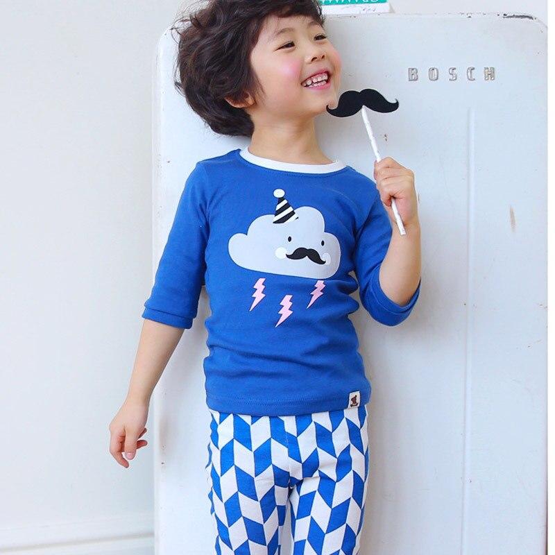 Blue Pink Summer Cotton Sleepwear Kids Pajamas Sets For Boys And Girls Kids Pjs Pijamas Childs Leisure Wear Baby Clothing<br><br>Aliexpress