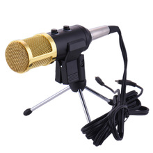 Audio Reverberation Wired Microphone with Stand USB Condenser Sound Recording for Karaoke KTV Video Conference Network Recording
